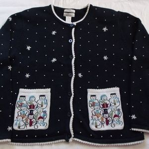 Hand  Embroidered Christopher & Banks Sz.M Sweater
